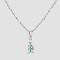 18ct Aquamarine and diamond pendant