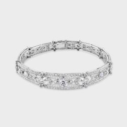 Edwardian platinum diamond bracelet