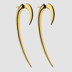 Yellow Gold Vermeil Large Hook Earrings