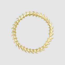 Serpent Trace Yellow Gold Vermeil Slim Bracelet
