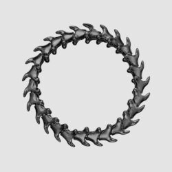 Serpent Trace Silver Black Rhodium Wide Bracelet