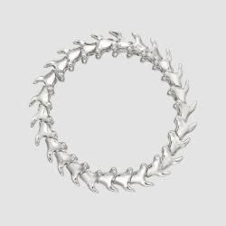 Serpent Trace Silver Wide Bracelet